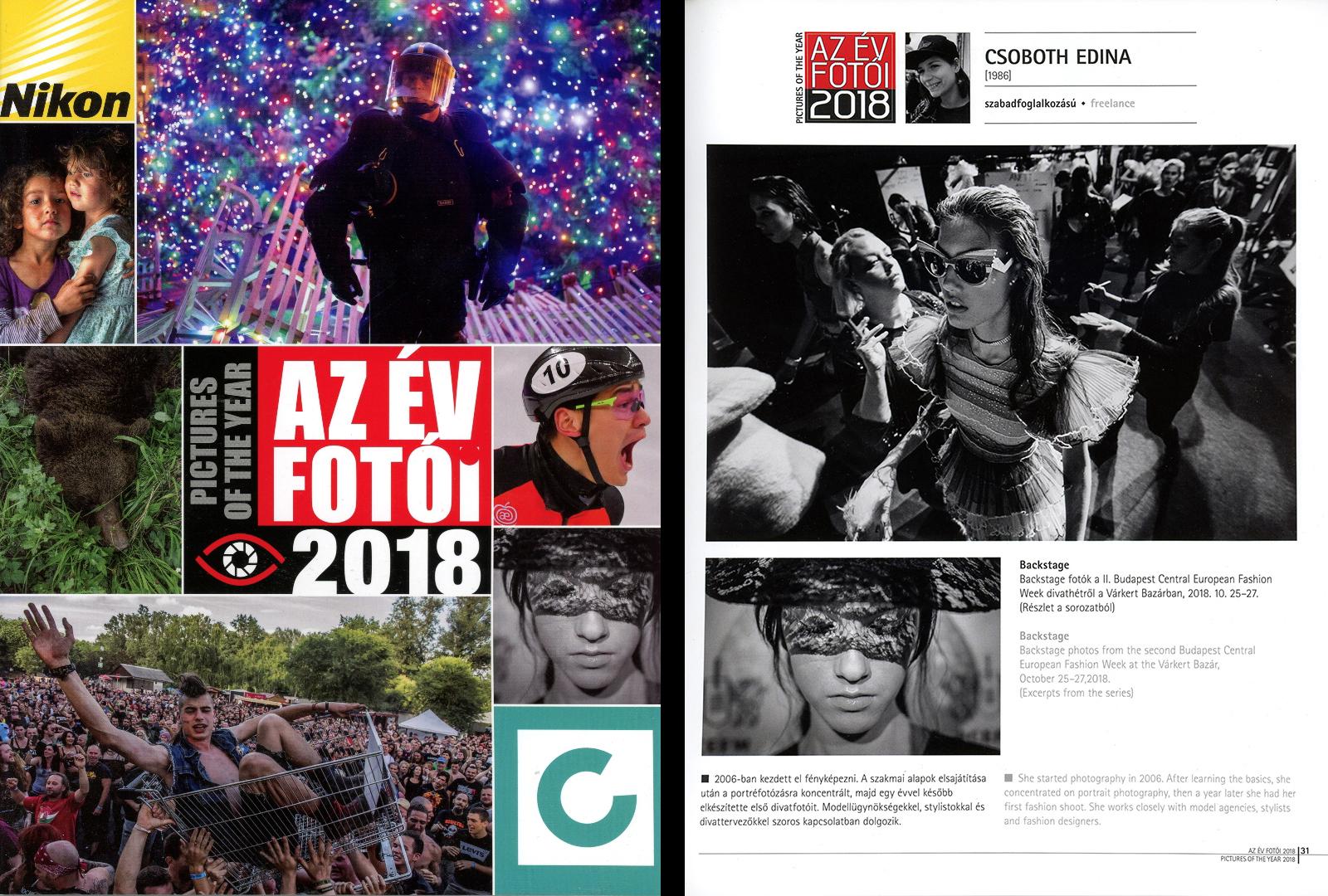 Díj - Sajtófotó pályázat - 2018 - Az év fotói könyv - Címlap és belső oldal