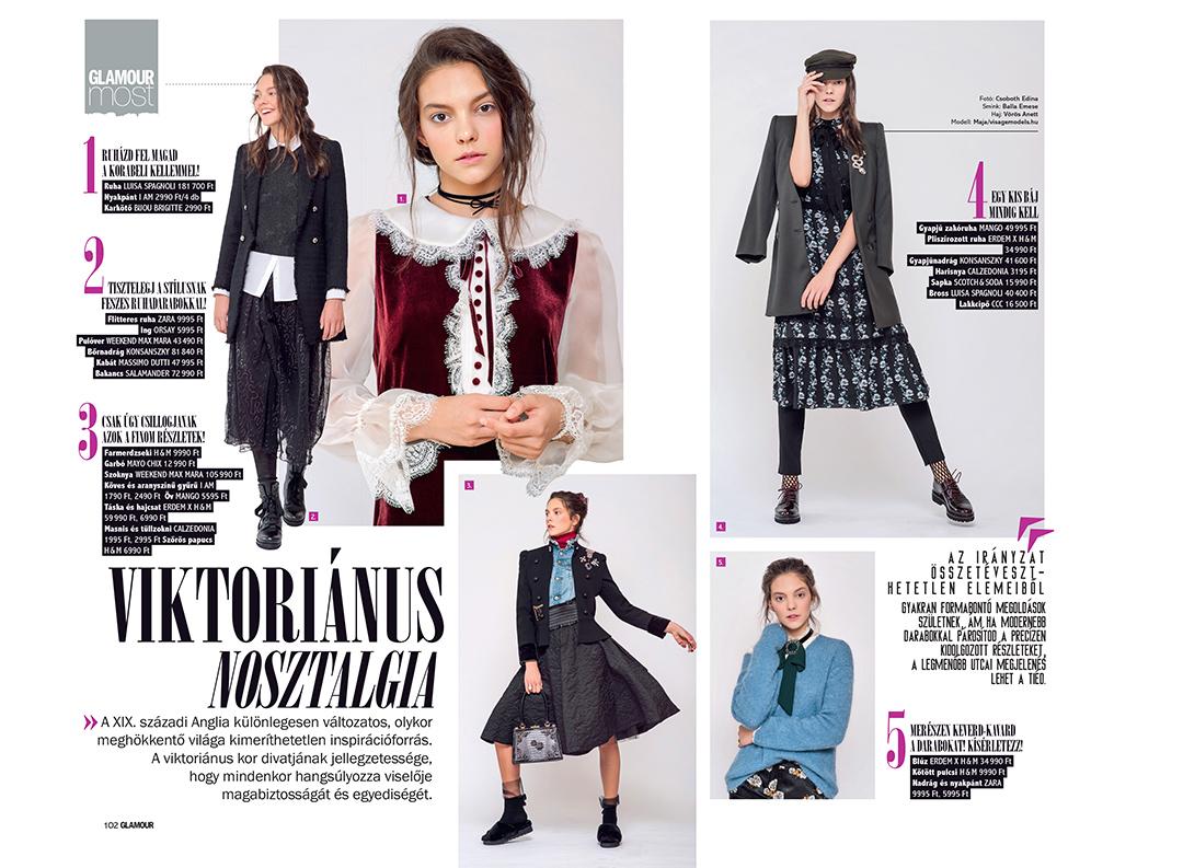 Publikáció - Glamour - 2017 - Viktoriánus nosztalgia - 01-02