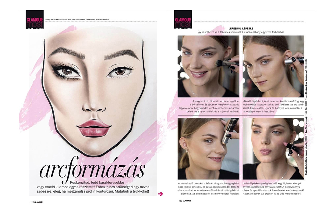 Publikáció - Glamour - 2019 - Arcformázás - 01-02