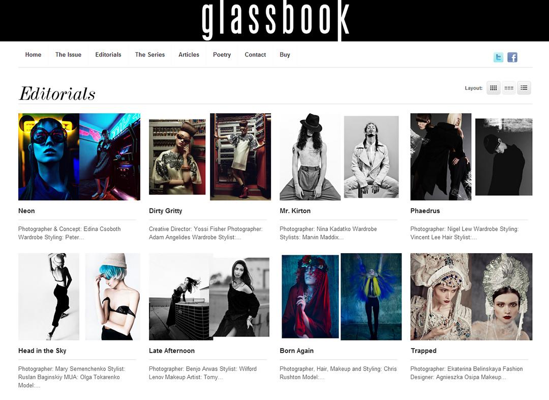Publikáció - Glassbook - 2014 - Neon - Nyitó (weboldal)