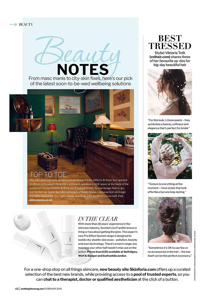 Publikáció - Wedding Ideas - 2019 - Bridal Hairs - 01