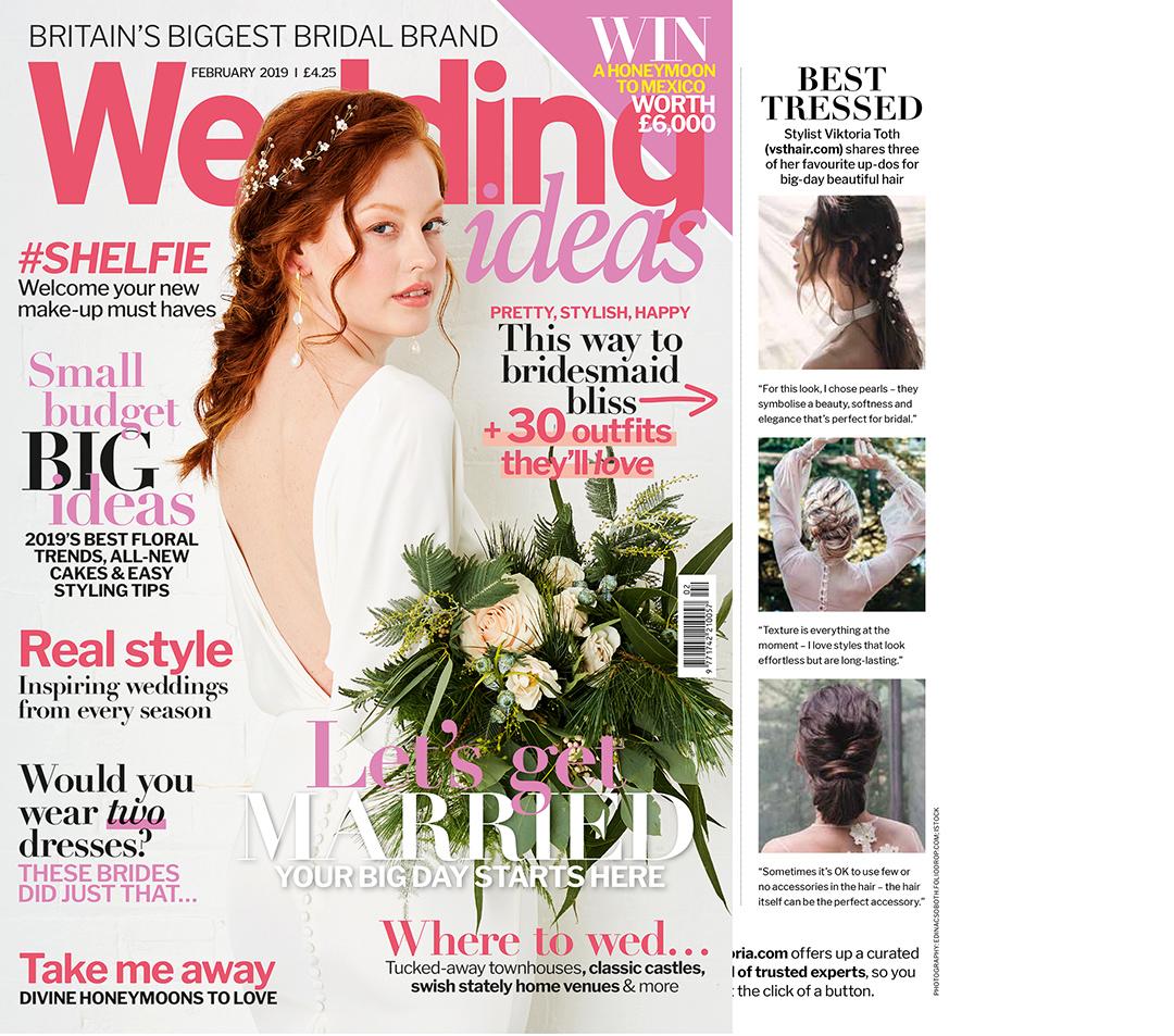 Publikáció - Wedding Ideas - 2019 - Bridal Hairs - Címlap